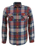 Mens Ben Sherman 'Western Style' Shirt Long Sleeved Red/Navy Check
